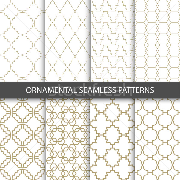 Ornamental grid patterns in vintage style - seamless  Stock photo © ExpressVectors