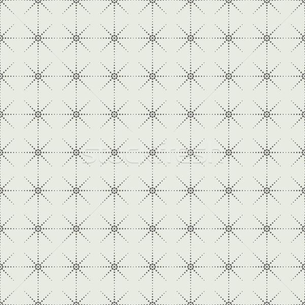 Geometric dot pattern, seamless vector background Stock photo © ExpressVectors