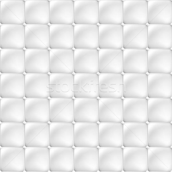 Bianco soft tappezzeria texture senza soluzione di continuità vettore Foto d'archivio © ExpressVectors