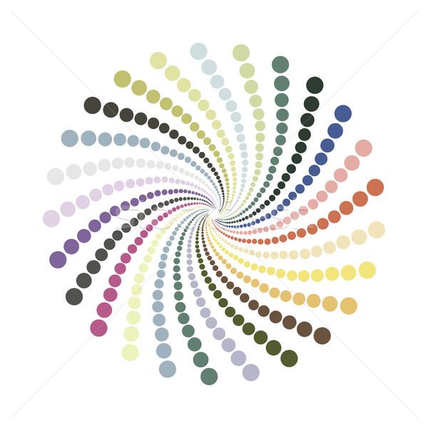 抽象的な 点在 色 スパイラル テクスチャ ストックフォト © ExpressVectors