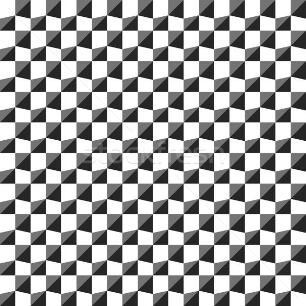 Wektora geometryczny wzór proste bezszwowy czarno białe tekstury Zdjęcia stock © ExpressVectors