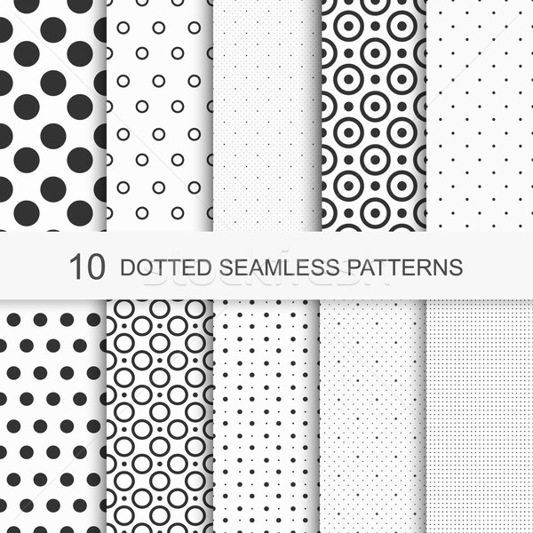 Dotted patterns. Seamless vector collection. Stock photo © ExpressVectors