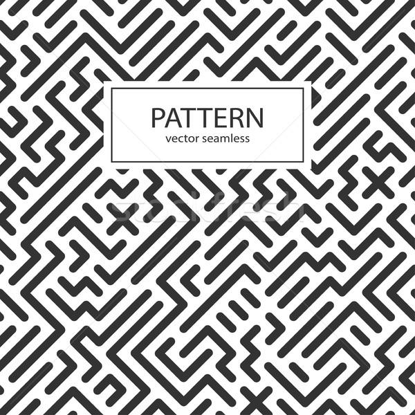 Gestreept naadloos geometrisch patroon digitale vector muur Stockfoto © ExpressVectors