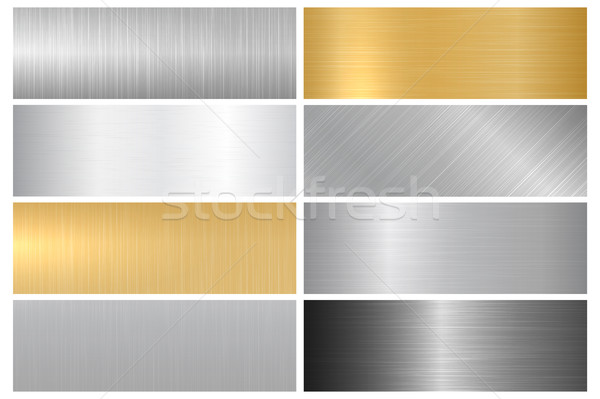 металл ярко текстуры вектора коллекция металлический Сток-фото © ExpressVectors
