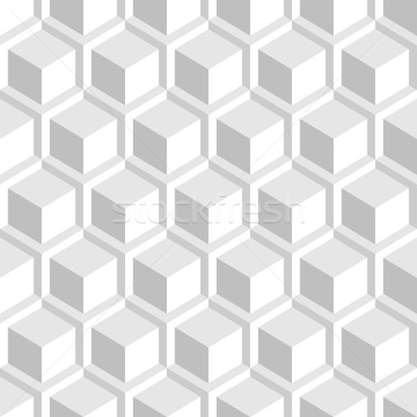 White decorative 3d texture - seamless background. Stock photo © ExpressVectors