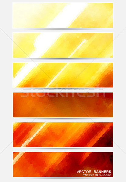 Abstract banners. Vector collection Stock photo © ExpressVectors