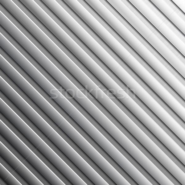 縞模様の 金属 抽象的な メタリック テクスチャ 壁 ストックフォト © ExpressVectors
