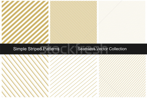 Collection of gold striped backgrounds. Stock photo © ExpressVectors