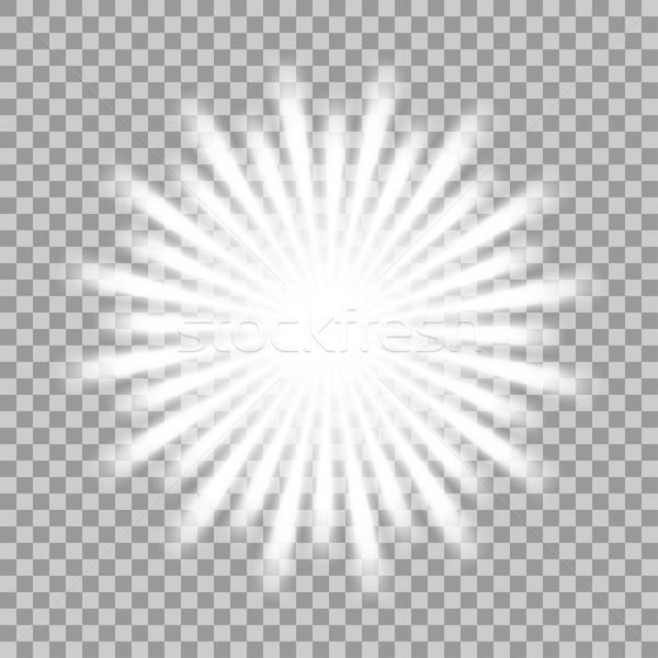 Vector glowing light effect. Stock photo © ExpressVectors