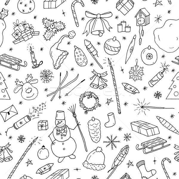 Weihnachten Doodle Gezeichnet Illustration Design