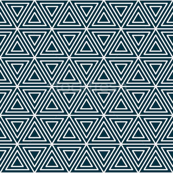 Géométrique vintage rayé répétable mur Photo stock © ExpressVectors