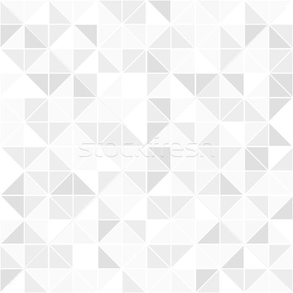 Gray geometric seamless pattern. Mosaic background. Stock photo © ExpressVectors