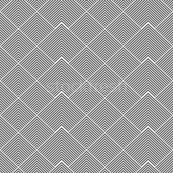 Gestreept naadloos geometrisch patroon zwart wit textuur Stockfoto © ExpressVectors