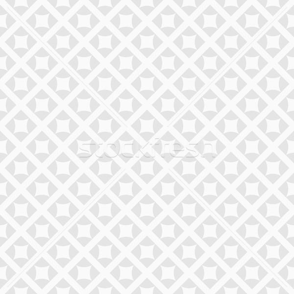 Geometryczny wzór bezszwowy projektu wnętrza tapety biały Zdjęcia stock © ExpressVectors
