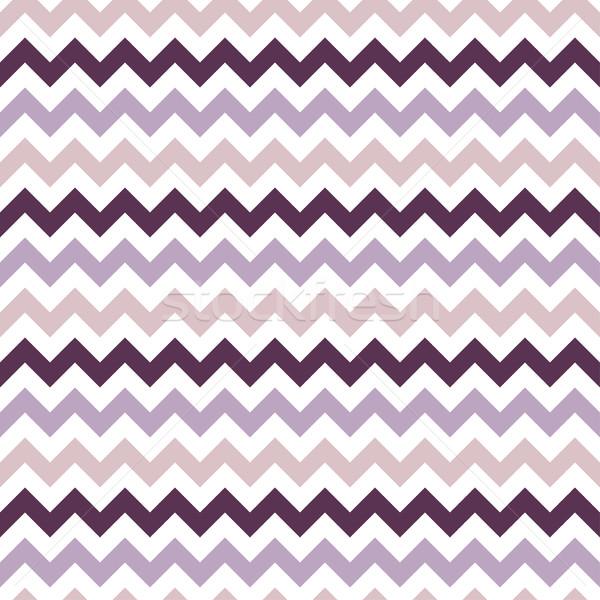 Zigzag retro kleur gestreept papier Stockfoto © ExpressVectors