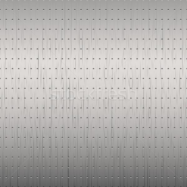 Brushed metal background. Stock photo © ExpressVectors