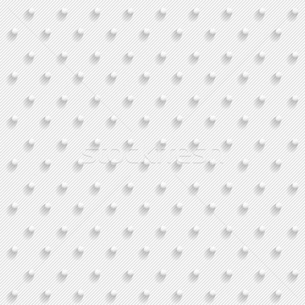 Bianco 3D senza soluzione di continuità punteggiata texture vettore Foto d'archivio © ExpressVectors