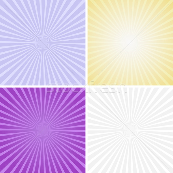 Set of color radiant backgrounds Stock photo © ExpressVectors