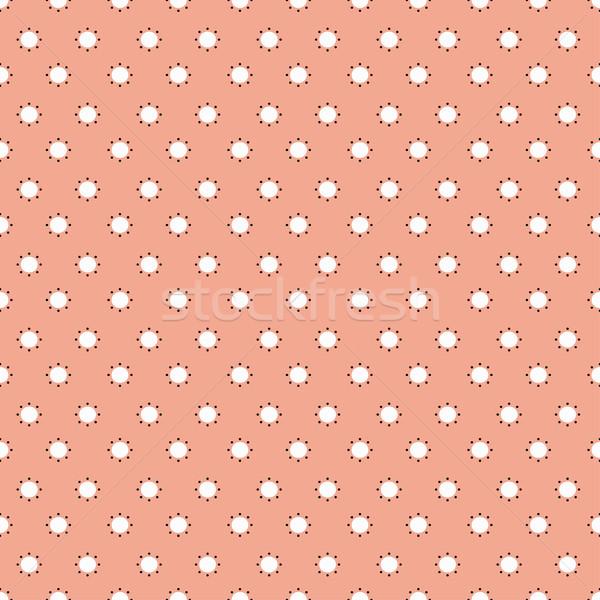 Patrón sin costura naranja funky papel moda Foto stock © ExpressVectors