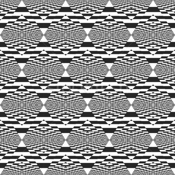 Disegno geometrico senza soluzione di continuità bianco nero texture moda arte Foto d'archivio © ExpressVectors