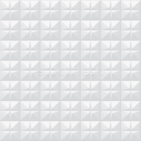 Bianco texture disegno geometrico senza soluzione di continuità vettore muro Foto d'archivio © ExpressVectors