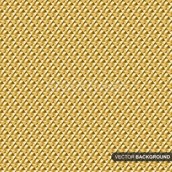 Abstract oro disegno geometrico vettore senza soluzione di continuità texture Foto d'archivio © ExpressVectors