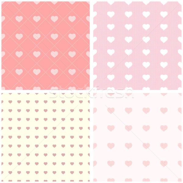 Stock fotó: Végtelen · minta · papír · szívek · esküvő · szeretet · szív