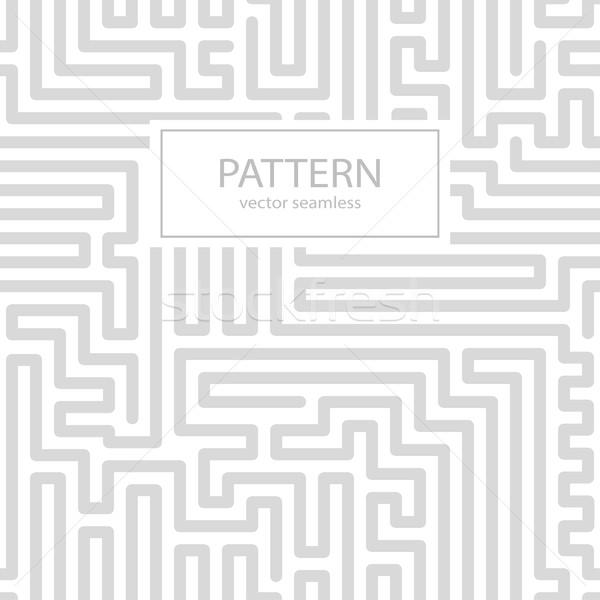 Pasiasty bezszwowy geometryczny wzór cyfrowe wektora ściany Zdjęcia stock © ExpressVectors