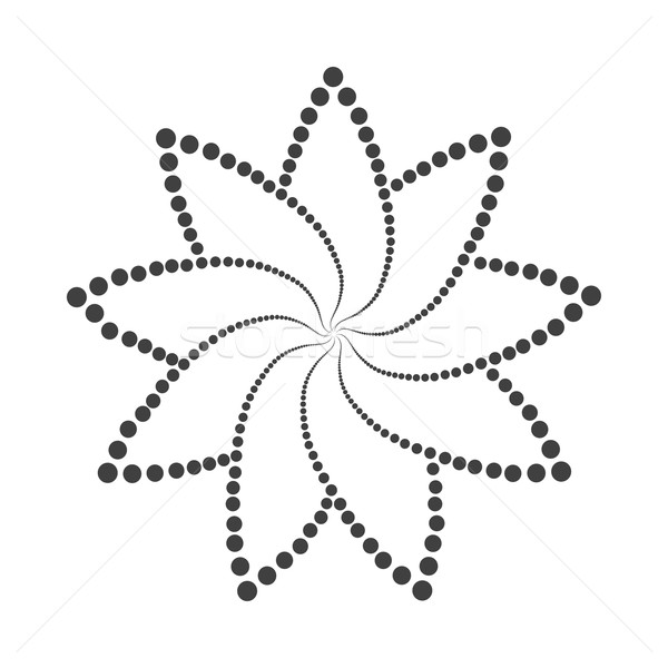 Stock fotó: Absztrakt · pontozott · dizájn · elem · szürke · fehér · textúra
