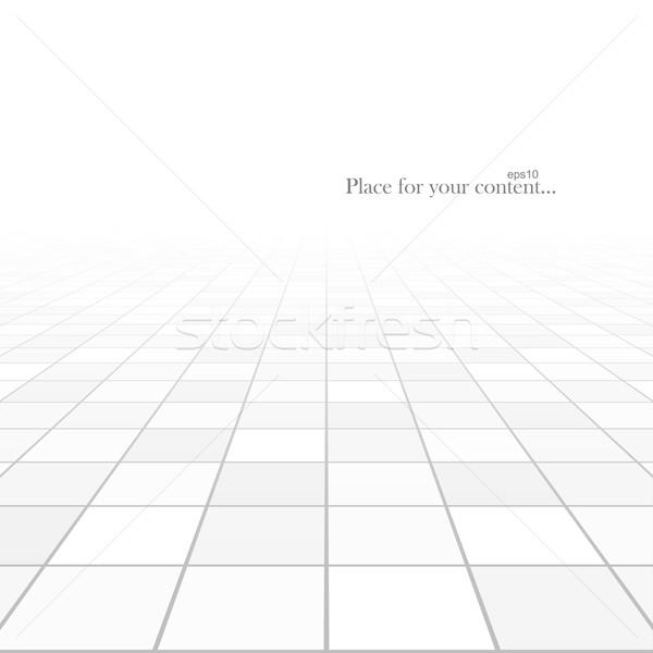 Abstract perspectief betegelde vloer licht technologie Stockfoto © ExpressVectors