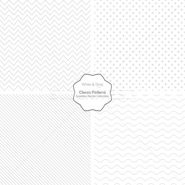 コレクション 単純な ベクトル パターン 白 ストックフォト © ExpressVectors
