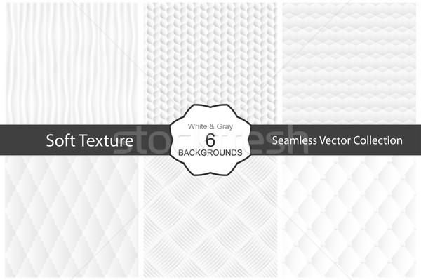 Beyaz dekoratif dokular vektör toplama Stok fotoğraf © ExpressVectors
