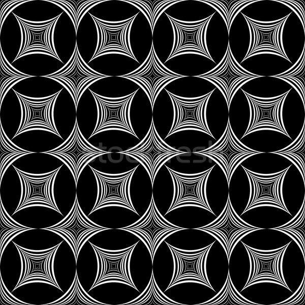 иллюзия геометрическим рисунком бесшовный вектора моде дизайна Сток-фото © ExpressVectors