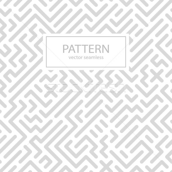 Strisce senza soluzione di continuità disegno geometrico digitale bianco grigio Foto d'archivio © ExpressVectors