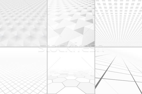 Bieli tła perspektywy kolekcja streszczenie tle czyste Zdjęcia stock © ExpressVectors