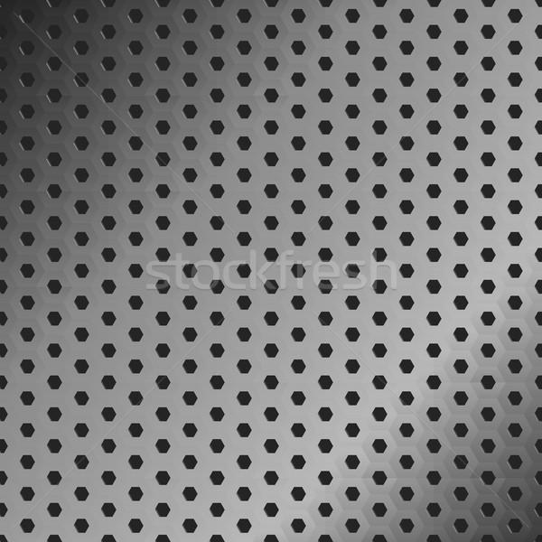 ızgara Metal vektör metal doku dizayn duvar Stok fotoğraf © ExpressVectors
