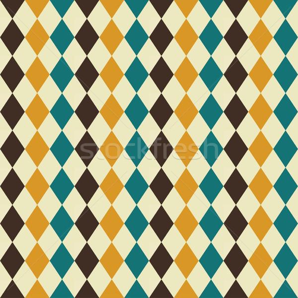 Retro senza soluzione di continuità disegno geometrico colore texture muro Foto d'archivio © ExpressVectors