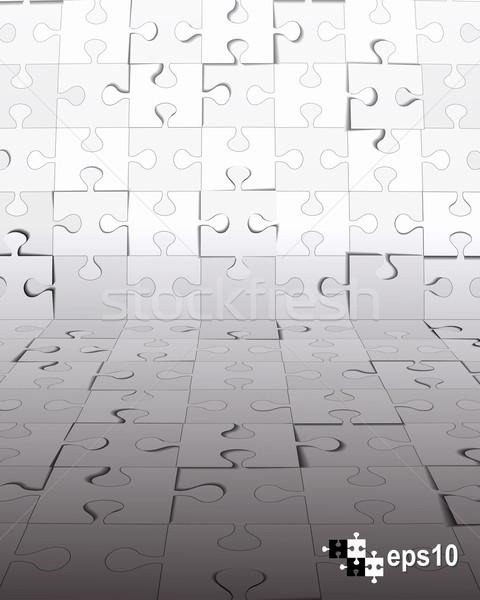 аннотация головоломки 3D дизайна бизнеса Сток-фото © ExpressVectors