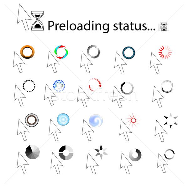 Loading icons Stock photo © ExpressVectors