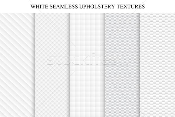 Set of soft seamless white textures. Stock photo © ExpressVectors