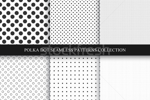 Ensemble modèles à pois polka vecteur Photo stock © ExpressVectors