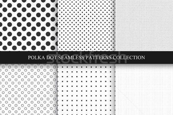 Ensemble modèles à pois polka vecteur Photo stock © ExpressVectors