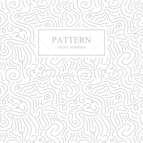 Curve seamless pattern in memphis style. Stock photo © ExpressVectors