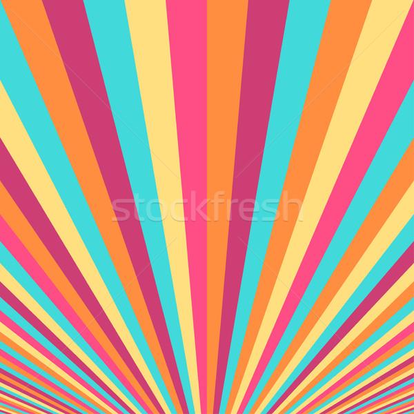 Abstract colorato strisce simile web retro Foto d'archivio © ExpressVectors