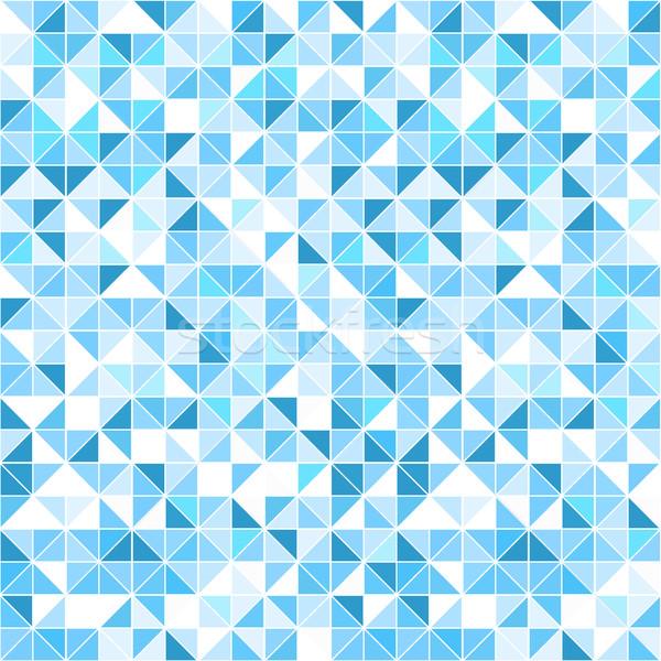 幾何学的な 青 シームレス モザイク ベクトル パターン ストックフォト © ExpressVectors