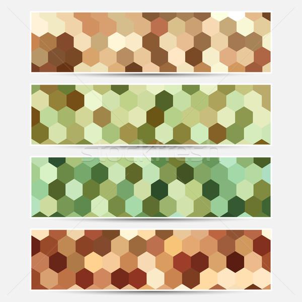 Vecteur coloré bannières pas gradient transparence Photo stock © ExpressVectors
