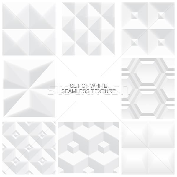 Ensemble blanche géométrique textures vecteur Photo stock © ExpressVectors