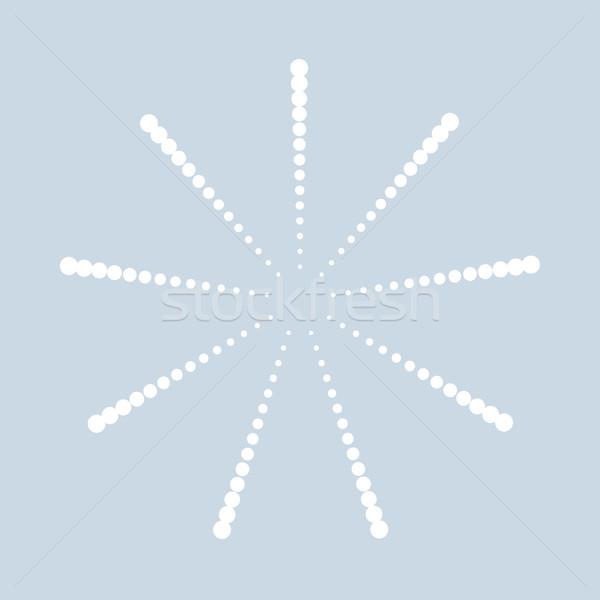 Abstract bianco punteggiata eps10 Foto d'archivio © ExpressVectors