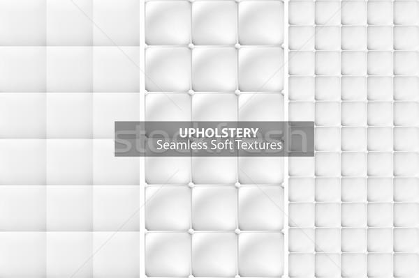 Fehér kárpit textúrák végtelenített vektor gyűjtemény Stock fotó © ExpressVectors
