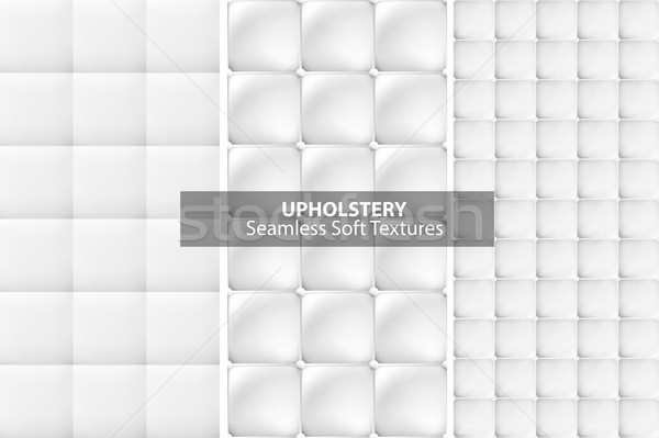 White upholstery textures. Seamless. Stock photo © ExpressVectors
